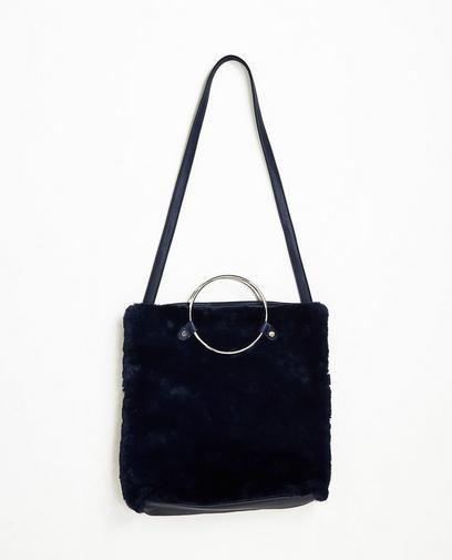 Nachtblauwe handtas